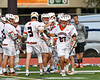 Liverpool Warriors Joe Fontanella (27) being introduced before playing the Baldwinsville Bees in a Section III Boys Lacrosse game at Liverpool High School Stadium in Liverpool, New York on Thursday, May 10, 2018.