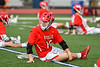 Baldwinsville Bees Connor Steria (16) warming up before playing the Liverpool Warriors in a Section III Boys Lacrosse game at Liverpool High School Stadium in Liverpool, New York on Thursday, May 10, 2018.