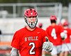 Baldwinsville Bees Tanner McCaffery (2) giving the thumbs up before playing the Liverpool Warriors in a Section III Boys Lacrosse game at Liverpool High School Stadium in Liverpool, New York on Thursday, May 10, 2018.