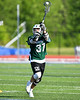 Fayetteville-Manlius Hornets Zachary VanValkenburgh (37) passing the ball against the Baldwinsville Bees in Section III Class A Semi-Finals Boys Lacrosse action at Michael Bragman Stadium in Cicero, New York on Thursday, May 24, 2018.  Fayetteville-Manlius won 8-7.