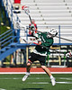 Fayetteville-Manlius Hornets Jack Shanley (22) takes a jump shot against the Baldwinsville Bees in Section III Class A Semi-Finals Boys Lacrosse action at Michael Bragman Stadium in Cicero, New York on Thursday, May 24, 2018.  Fayetteville-Manlius won 8-7.
