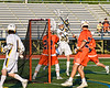 West Genesee Wildcats Brad Cunningham (23) takes a shot at the Liverpool Warriors net in Section III Class A Semi-Finals Boys Lacrosse action at Michael Bragman Stadium in Cicero, New York on Thursday, May 24, 2018.  West Genesee won 16-5.