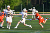 West Genesee Wildcats Ryan Sheehan (9) winding up for a shot which scored a goal against the Liverpool Warriors in Section III Class A Semi-Finals Boys Lacrosse action at Michael Bragman Stadium in Cicero, New York on Thursday, May 24, 2018.  West Genesee won 16-5.