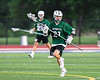 Fayetteville-Manlius Hornets Luke Miranda (21) with the ball against the West Genesee Wildcats in Section III Class A Finals Boys Lacrosse action at Michael Bragman Stadium in Cicero, New York on Wednesday, May 30, 2018.  West Genesee won 12-10.