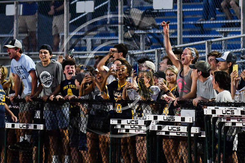 West Genesee students celebrate the Wildcats Section III Class A Boys Lacrosse championship at Michael Bragman Stadium in Cicero, New York on Wednesday, May 30, 2018.