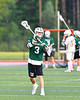 Fayetteville-Manlius Hornets Nick Papa (3) looking to make a pass against the West Genesee Wildcats in Section III Class A Finals Boys Lacrosse action at Michael Bragman Stadium in Cicero, New York on Wednesday, May 30, 2018.  West Genesee won 12-10.