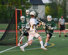 West Genesee Wildcats Ryan Smith (34) coming around the net against the Fayetteville-Manlius Hornets in Section III Class A Finals Boys Lacrosse action at Michael Bragman Stadium in Cicero, New York on Wednesday, May 30, 2018.  West Genesee won 12-10.