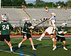 West Genesee Wildcats Jack Howes (37) shoots and scores against the Fayetteville-Manlius Hornets in Section III Class A Finals Boys Lacrosse action at Michael Bragman Stadium in Cicero, New York on Wednesday, May 30, 2018.  West Genesee won 12-10.