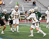 West Genesee Wildcats Max Rosa (13) shoots and scores against the Fayetteville-Manlius Hornets in Section III Class A Finals Boys Lacrosse action at Michael Bragman Stadium in Cicero, New York on Wednesday, May 30, 2018.  West Genesee won 12-10.