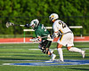 Fayetteville-Manlius Hornets Zachary Vanvalkenburgh (37) controls the ball after a face-off against West Genesee Wildcats Patrick Stanistreet (25) in Section III Class A Finals Boys Lacrosse action at Michael Bragman Stadium in Cicero, New York on Wednesday, May 30, 2018.  West Genesee won 12-10.