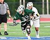 Fayetteville-Manlius Hornets Zachary Vanvalkenburgh (37) wins a face-off against West Genesee Wildcats Patrick Stanistreet (25) in Section III Class A Finals Boys Lacrosse action at Michael Bragman Stadium in Cicero, New York on Wednesday, May 30, 2018.  West Genesee won 12-10.