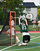 Fayetteville-Manlius Hornets goalie Jack Vanvalkenburgh (23) is scored upon by West Genesee Wildcats Ryan Sheehan (9, not in photo) in Section III Class A Finals Boys Lacrosse action at Michael Bragman Stadium in Cicero, New York on Wednesday, May 30, 2018.  West Genesee won 12-10.