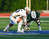 Fayetteville-Manlius Hornets Zachary Vanvalkenburgh (37) gets control of the ball while facing off against West Genesee Wildcats Patrick Stanistreet (25) in Section III Class A Finals Boys Lacrosse action at Michael Bragman Stadium in Cicero, New York on Wednesday, May 30, 2018.  West Genesee won 12-10.