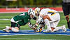 Fayetteville-Manlius Hornets Zachary Vanvalkenburgh (37) facing off against West Genesee Wildcats Patrick Stanistreet (25) in Section III Class A Finals Boys Lacrosse action at Michael Bragman Stadium in Cicero, New York on Wednesday, May 30, 2018.  West Genesee won 12-10.