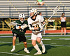 Fayetteville-Manlius Hornets Tommy Farry (30) defending against West Genesee Wildcats Max Rosa (13) in Section III Class A Finals Boys Lacrosse action at Michael Bragman Stadium in Cicero, New York on Wednesday, May 30, 2018.  West Genesee won 12-10.
