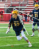 Victor Blue Devils Jack LaRue (23) with the ball against the Baldwinsville Bees in Section III Boys Lacrosse action at the Pelcher-Arcaro Stadium in Baldwinsville, New York on Friday, April 6, 2019.  Victor won 9-7.