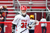 Baldwinsville Bees Aiden Walker (30) in pre-game warm ups before playing the Victor Blue Devils in a Section III Boys Lacrosse game at the Pelcher-Arcaro Stadium in Baldwinsville, New York on Friday, April 6, 2019.