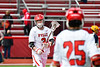 Baldwinsville Bees Adam Davis (3) in pre-game warm ups before playing the Victor Blue Devils in a Section III Boys Lacrosse game at the Pelcher-Arcaro Stadium in Baldwinsville, New York on Friday, April 6, 2019.