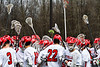 Baldwinsville Bees hosted the Victor Blue Devils in Section III Boys Lacrosse action at the Pelcher-Arcaro Stadium in Baldwinsville, New York on Friday, April 6, 2019.