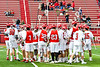 Baldwinsville Bees in pre-game warm ups before playing the Victor Blue Devils in a Section III Boys Lacrosse game at the Pelcher-Arcaro Stadium in Baldwinsville, New York on Friday, April 6, 2019.
