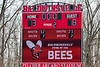 Baldwinsville Bees hosted the Victor Blue Devils in Section III Boys Lacrosse action at the Pelcher-Arcaro Stadium in Baldwinsville, New York on Friday, April 6, 2019.  Victor won 9-7.