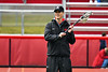 Baldwinsville Bees Head Coach Matt Wilcox in pre-game warm ups before playing the Victor Blue Devils in a Section III Boys Lacrosse game at the Pelcher-Arcaro Stadium in Baldwinsville, New York on Friday, April 6, 2019.