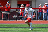 Baldwinsville Bees Adam Davis (3) running with the ball against the Fayetteville-Manlius Hornets in Section III Boys Lacrosse action at the Pelcher-Arcaro Stadium in Baldwinsville, New York on Saturday, April 13, 2019.  Baldwinsville won 16-5.