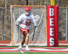 Baldwinsville Bees Brendan Wilcox (22) cradling the ball against the Fayetteville-Manlius Hornets in Section III Boys Lacrosse action at the Pelcher-Arcaro Stadium in Baldwinsville, New York on Saturday, April 13, 2019.  Baldwinsville won 16-5.
