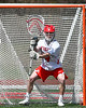 Baldwinsville Bees goalie Daniel Stehle (34) in net against the Fayetteville-Manlius Hornets in Section III Boys Lacrosse action at the Pelcher-Arcaro Stadium in Baldwinsville, New York on Saturday, April 13, 2019.  Baldwinsville won 16-5.