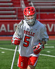 Baldwinsville Bees Koby Hahn (5) warming up before playing the Fayetteville-Manlius Hornets in a Section III Boys Lacrosse game at the Pelcher-Arcaro Stadium in Baldwinsville, New York on Saturday, April 13, 2019.