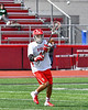 Baldwinsville Bees Quinn Peters (11) passing the ball against the Fayetteville-Manlius Hornets in Section III Boys Lacrosse action at the Pelcher-Arcaro Stadium in Baldwinsville, New York on Saturday, April 13, 2019.  Baldwinsville won 16-5.
