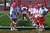 Baldwinsville Bees Carter Gates (35) during player introductions before a Section III Boys Lacrosse game at the Pelcher-Arcaro Stadium in Baldwinsville, New York on Saturday, April 13, 2019.