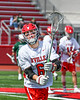 Baldwinsville Bees Tommy Thibault (6) warming up before playing the Fayetteville-Manlius Hornets in a Section III Boys Lacrosse game at the Pelcher-Arcaro Stadium in Baldwinsville, New York on Saturday, April 13, 2019.