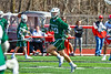 Fayetteville-Manlius Hornets Josh Michel (20) running with the ball against the Baldwinsville Bees in Section III Boys Lacrosse action at the Pelcher-Arcaro Stadium in Baldwinsville, New York on Saturday, April 13, 2019.  Baldwinsville won 16-5.