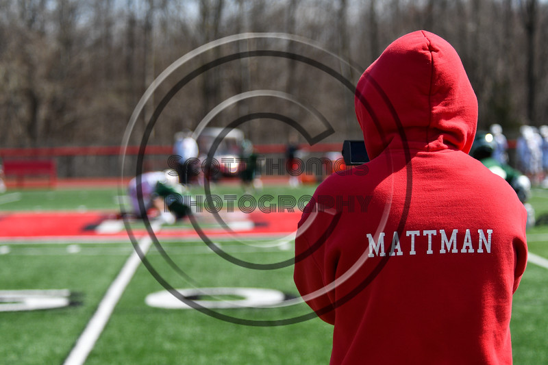 Mattman video recording the Baldwinsville Bees JV team playing the Fayetteville-Manlius Hornets in Section III Boys Lacrosse action at the Pelcher-Arcaro Stadium in Baldwinsville, New York on Saturday, April 13, 2019.