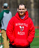 Mattman before the Baldwinsville Bees and Fayetteville-Manlius Hornets Section III Boys Lacrosse game at the Pelcher-Arcaro Stadium in Baldwinsville, New York on Saturday, April 13, 2019.
