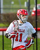 Baldwinsville Bees Quinn Peters (11) with the ball against the Fayetteville-Manlius Hornets in Section III Boys Lacrosse action at the Pelcher-Arcaro Stadium in Baldwinsville, New York on Saturday, April 13, 2019.  Baldwinsville won 16-5.