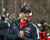 Baldwinsville Bees Head Coach Matt Wilcox before the Bess played the Fayetteville-Manlius Hornets in a Section III Boys Lacrosse game at the Pelcher-Arcaro Stadium in Baldwinsville, New York on Saturday, April 13, 2019.
