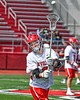 Baldwinsville Bees Noah Ravas (9) warming up before playing the Fayetteville-Manlius Hornets in a Section III Boys Lacrosse game at the Pelcher-Arcaro Stadium in Baldwinsville, New York on Saturday, April 13, 2019.