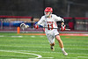 Baldwinsville Bees Braden Lynch (13) running with the ball against the West Genesee Wildcats in Section III Boys Lacrosse action at the Pelcher-Arcaro Stadium in Baldwinsville, New York on Tuesday, April 23, 2019. Baldwinsville won 16-6.