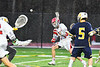 Baldwinsville Bees Spencer Wirtheim (10) shoots and scores a goal against the West Genesee Wildcats in Section III Boys Lacrosse action at the Pelcher-Arcaro Stadium in Baldwinsville, New York on Tuesday, April 23, 2019. Baldwinsville won 16-6.