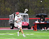 Baldwinsville Bees Adam Davis (3) passing the ball against the West Genesee Wildcats in Section III Boys Lacrosse action at the Pelcher-Arcaro Stadium in Baldwinsville, New York on Tuesday, April 23, 2019. Baldwinsville won 16-6.