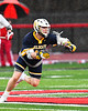 West Genesee Wildcats Max Rosa (13) with the ball against the Baldwinsville Bees in Section III Boys Lacrosse action at the Pelcher-Arcaro Stadium in Baldwinsville, New York on Tuesday, April 23, 2019. Baldwinsville won 16-6.
