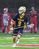 West Genesee Wildcats Ryan Sheehan (9) with the ball against the Baldwinsville Bees in Section III Boys Lacrosse action at the Pelcher-Arcaro Stadium in Baldwinsville, New York on Tuesday, April 23, 2019. Baldwinsville won 16-6.