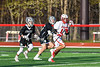 Baldwinsville Bees Quinn Peters (11) running with the ball against the Corcoran Cougars in Section III Boys Lacrosse action at the Pelcher-Arcaro Stadium in Baldwinsville, New York on Tuesday, April 30, 2019. Baldwinsville won 20-6.