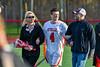Baldwinsville Bees Senior Jake Walsh (4) with his family on Senior Night at the Pelcher-Arcaro Stadium in Baldwinsville, New York on Tuesday, April 30, 2019.