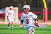 Baldwinsville Bees Adam Davis (3) with the ball against the Corcoran Cougars in Section III Boys Lacrosse action at the Pelcher-Arcaro Stadium in Baldwinsville, New York on Tuesday, April 30, 2019. Baldwinsville won 20-6.