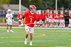 Baldwinsville Bees Adam Davis (3) with the ball against the Liverpool Warriors in Section III Boys Lacrosse action at Liverpool High School Stadium in Liverpool, New York on Thursday, May 2, 2019.  Baldwinsville won 12-8.