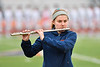 Liverpool Warriors flutist played the National Anthem before a Section III Boys Lacrosse game against the Baldwinsville Bees at Liverpool High School Stadium in Liverpool, New York on Thursday, May 2, 2019.