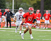 Baldwinsville Bees Michael Tangredi (26) running with the ball against the Liverpool Warriors in Section III Boys Lacrosse action at Liverpool High School Stadium in Liverpool, New York on Thursday, May 2, 2019.  Baldwinsville won 12-8.